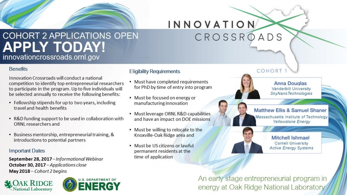Applications Now Open: Innovation Crossroads | Energy