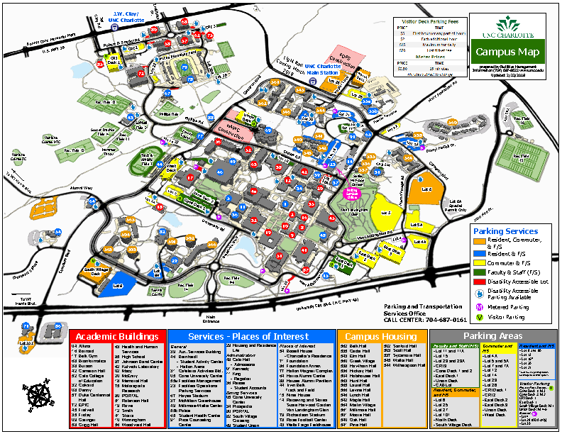 Unc Charlotte Map Directions to UNC Charlotte   EPIC | Energy Production